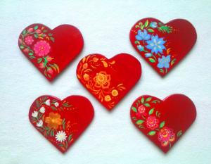 Магнитик сердечко своими руками на День влюбленных
